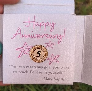 Mary Kay Fifth Year Anniversary Collectible Pin